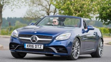 Used Mercedes SLC - front cornering