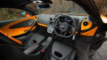 McLaren 570S first UK drive - interior