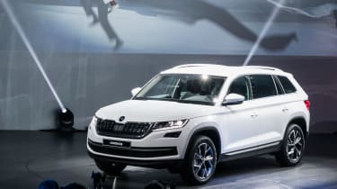 Skoda Kodiaq - reveal event white show car