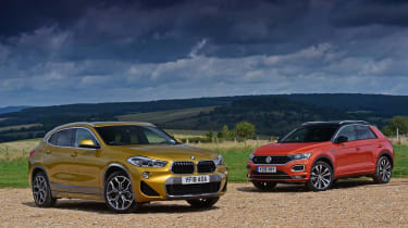 bmw x2 vs volkswagen t-roc static