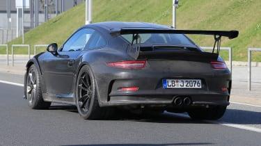 Porsche 911 gt3 rs facelift spy shot