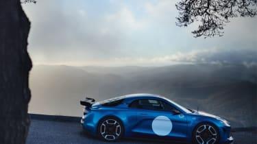 Renault Alpine Vision concept - blue car side