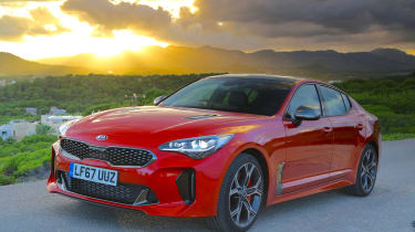 Kia Stinger - front static sunset