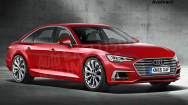 Audi A6 exclusive image (watermarked) - front