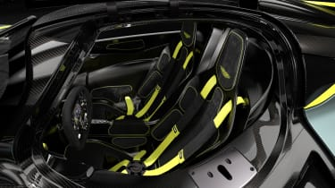Aston Martin Valkyrie AMR Track Performance Pack Stirling Green and Lime - seats