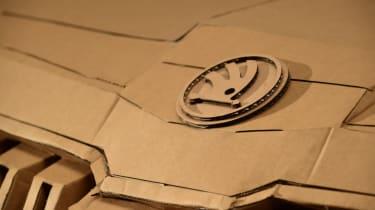 Cardboard Skoda Karoq badge