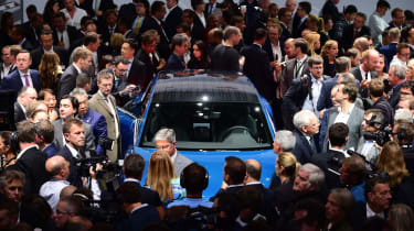 Media scrum - Frankfurt Motor Show 2015