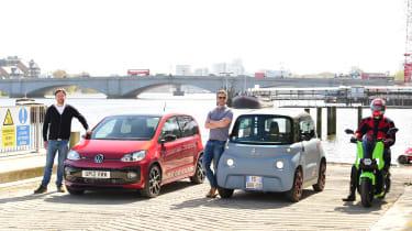 Commuter Cup: Citroen Ami vs Scooter vs Volkswagen up!