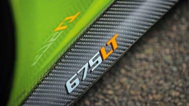 McLaren 675LT - badge