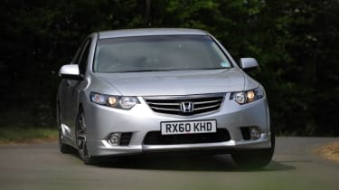 The Honda Accord sits with mainstream saloons like the Ford Mondeo and Volkswagen Passat.