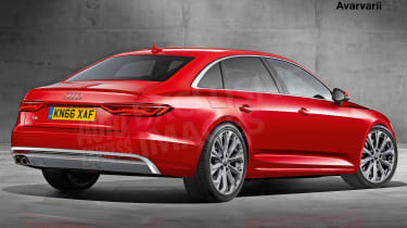 Audi A6 exclusive image (watermarked) - rear
