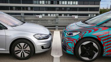 Volkswagen ID.3 vs Volkswagen e-Golf - front wheels