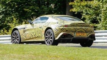 Aston Martin Vantage spy shot rear quarter
