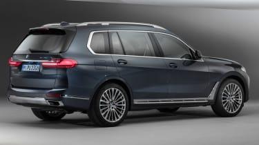 New BMW X7 studio shoot rear