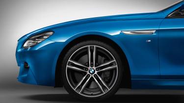 BMW 6 Series blue wheels