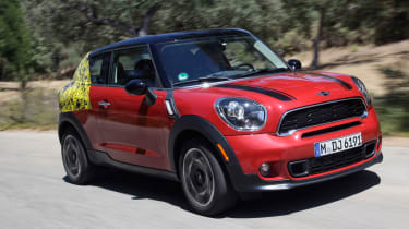 MINI Paceman prototype front action