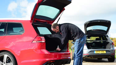 Volkswagen Golf R Estate vs SEAT Leon ST Cupra 280 boot space