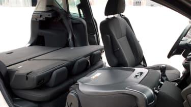 Ford B-MAX seats folded