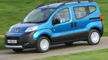 The Bipper Tepee is the same car as the Citreon Nemo Multispace and the Fiat Qubo.