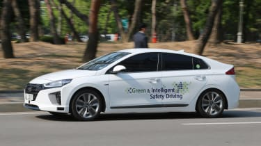 Hyundai Ioniq autonomous ride review - front