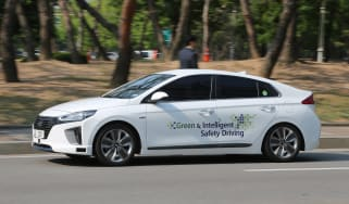 Hyundai Ioniq autonomous ride review - front