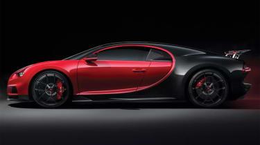 Bugatti Chiron-Sport side profile