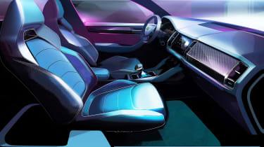 Skoda kodiaq gt coupe concept sketch interior