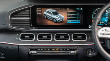 Mercedes GLE Coupe twin test - dash