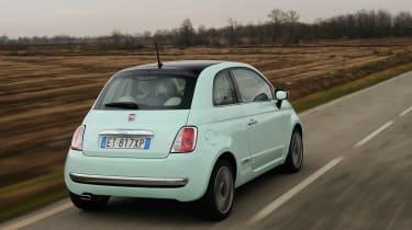 Fiat 500 Cult 2014 rear action