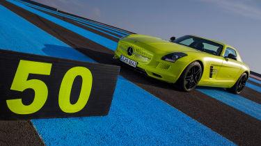 Mercedes SLS Electric Drive front three-quarters