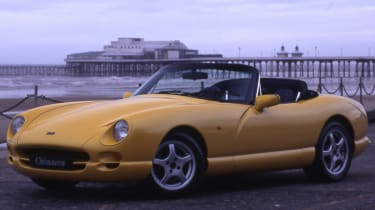 TVR yellow front