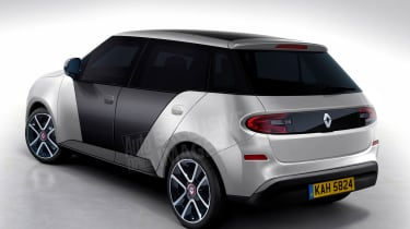 Renault 5 Auto Express rendering - rear