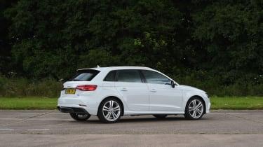 Audi A3 vs Volvo V40 vs Volkswagen Golf - A3 rear three quarter