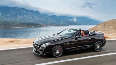 Mercedes SLC roadster - side