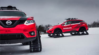 Nissan Winter Warrior concept - two models head on & side on