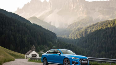 2019 Audi S4 saloon mountain