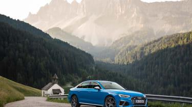 2019 Audi S4 saloon mountain