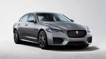 Jaguar XF Chequered Flag - front static