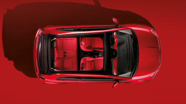 Fiat 500(RED) - above