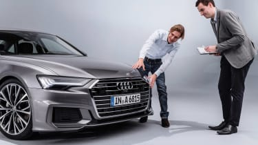New Audi A6 - studio Lawrence Allan inspection