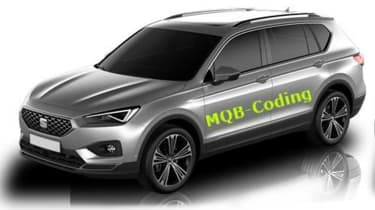 SEAT Tarraco SUV leak - front