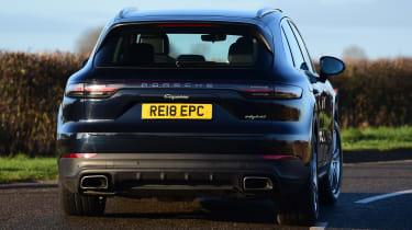 Porsche Cayenne - rear cornering
