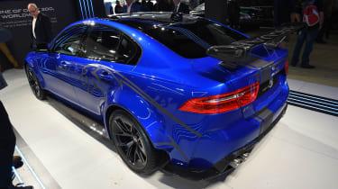Jaguar XE SV Project 8 - blue Goodwood rear