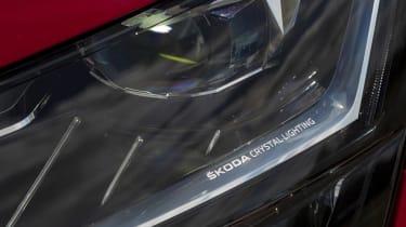 Skoda Superb - front lights
