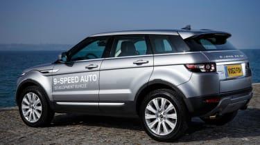Range Rover Evoque nine-speed rear three-quarters