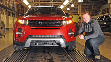 Range Rover Evoque at the factory