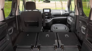 Citroen Berlingo - seats folded down