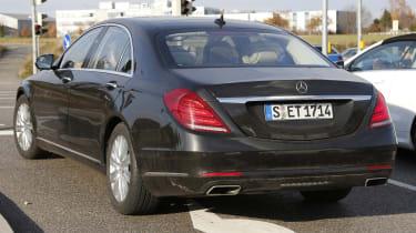 Mercedes S-Class facelift rear side