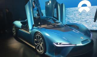 NextEV NIO EP9 electric hypercar  - front launch