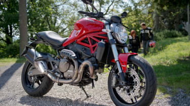 Ducati Monster 821 review - red front quarter